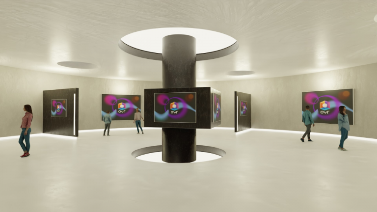 OVR Launches Futuristic Virtual Gallery for NFTs and More