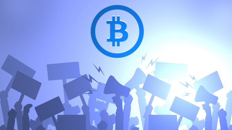 Group of Salvadorans Take to the Streets to Protest El Salvador's New Bitcoin Law