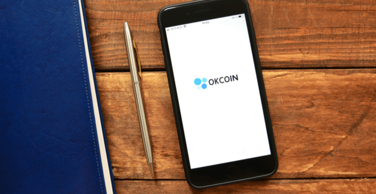 Image of OKCoin on a smartphone